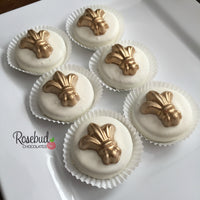 12 FLEUR DE LIS Chocolate Covered Oreo Cookie Candy Party Favors