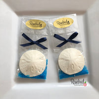 12 SAND DOLLAR Chocolate Candy Nautical Seashell Party Favors