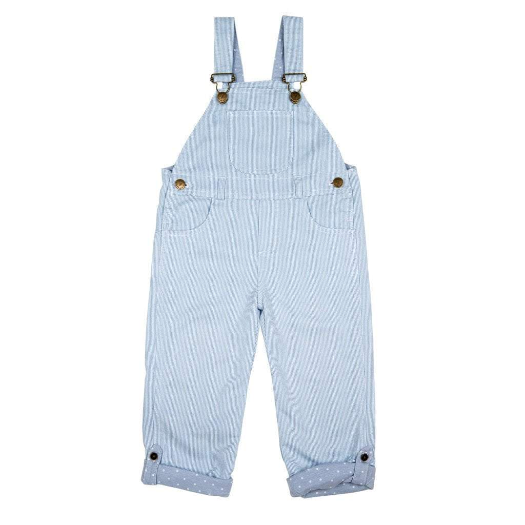 Dotty Dungarees - Pale Blue Stripe Dungarees