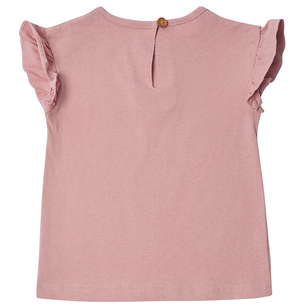 Edie Frill Top - Blush Pink
