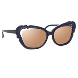 Linda Farrow 824 C4 Cat Eye Sunglasses