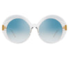Linda Farrow 844 C6 Oversized Sunglasses