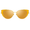 Linda Farrow 855 C4 Cat Eye Sunglasses