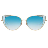 Linda Farrow 855 C7 Cat Eye Sunglasses