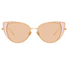 Linda Farrow 855 C8 Cat Eye Sunglasses