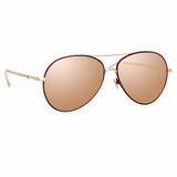 Linda Farrow 963 C5 Aviator Sunglasses