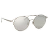 Linda Farrow 825 C2 Oval Sunglasses