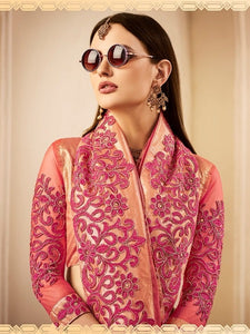 Chandan Silk Work Embroidered Sarees Wholesale