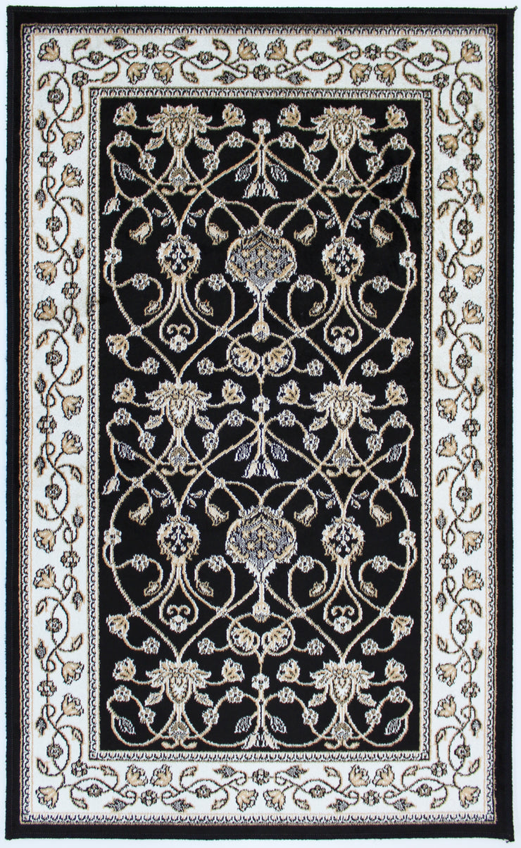 Art. Silk Bergama Black Rug