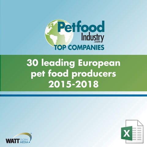 30 leading European pet food producers 2015-2018