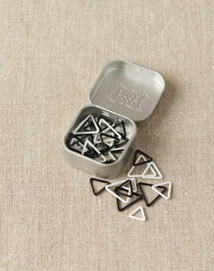 Triangle Stitch Markers in Tin