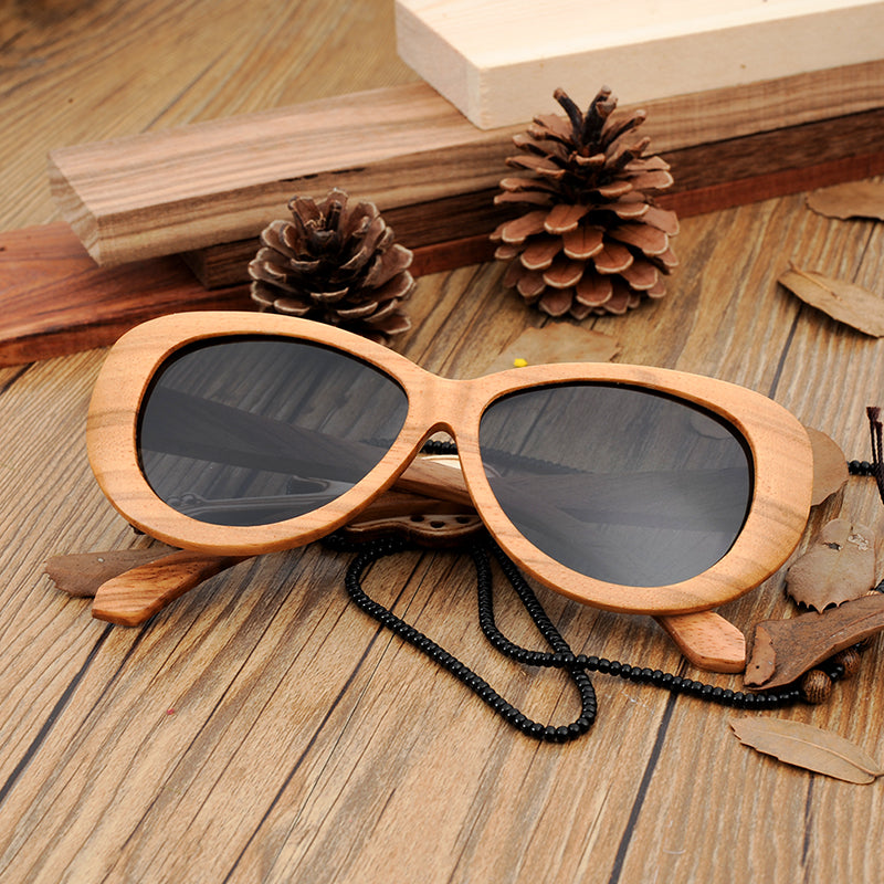 Handmade Pilot Design Wooden Sunglasses