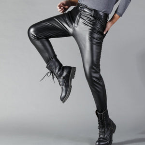 Man Leather Pants - thistylish