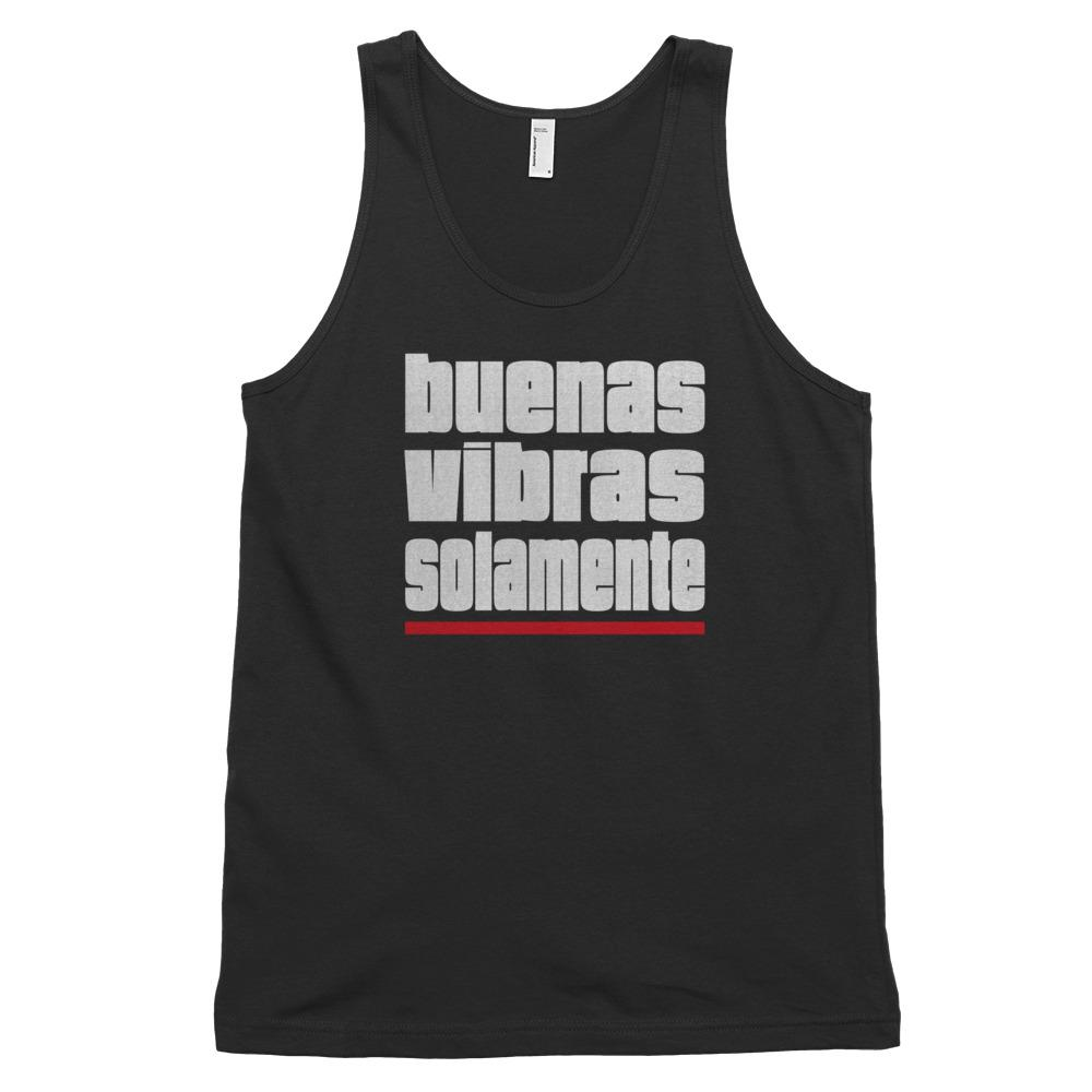 BUENAS VIBRAS SOLAMENTE | Men's Tank Top EAST OF ALTA Black XS
