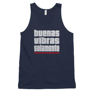 BUENAS VIBRAS SOLAMENTE | Men's Tank Top EAST OF ALTA Navy XS