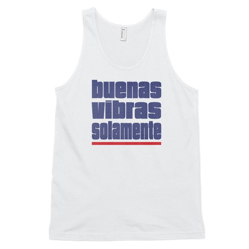 BUENAS VIBRAS SOLAMENTE | Men's Tank Top EAST OF ALTA White XS