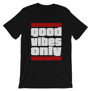 GOOD VIBES ONLY | Men's Tee EAST OF ALTA Black Heather S