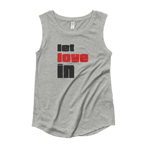 LET LOVE IN | Women's Cap Sleeve Tank EAST OF ALTA Heather Grey S