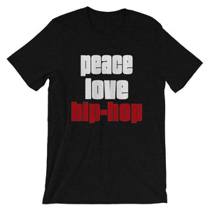 PEACE LOVE HIP-HOP | Men's Tee EAST OF ALTA Black Heather S