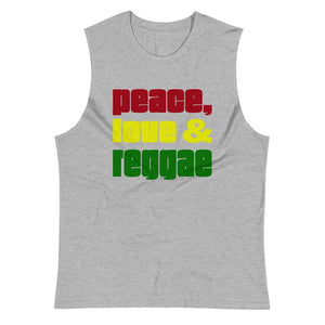 PEACE LOVE REGGAE | Men's Muscle Shirt EAST OF ALTA Athletic Heather S