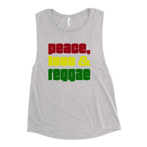 PEACE LOVE REGGAE | Women's Scoop Tank EAST OF ALTA Athletic Heather S