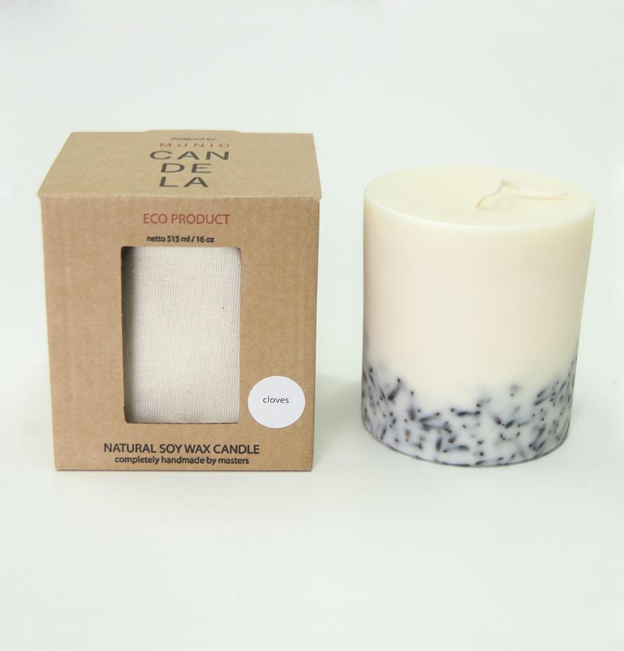"Cloves, Scented Soy Wax Candle ""5 SENSES"", 515 ml"