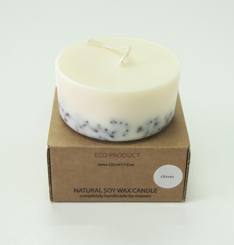 "Cloves, Scented Soy Wax Candle ""5 SENSES"""
