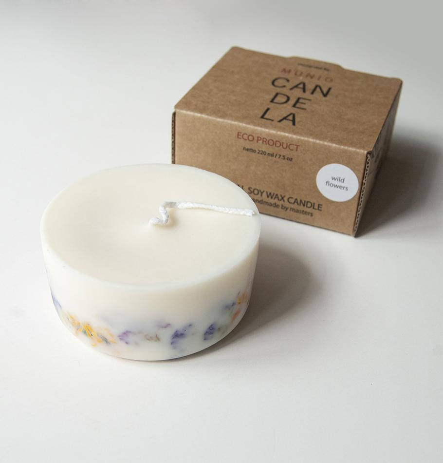 "Wild Flowers, Scented Soy Wax Candle ""5 SENSES"""
