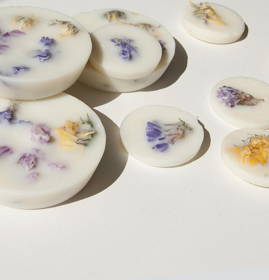 "Wild Flowers, Scented Soy Wax Rounds ""5 SENSES"""