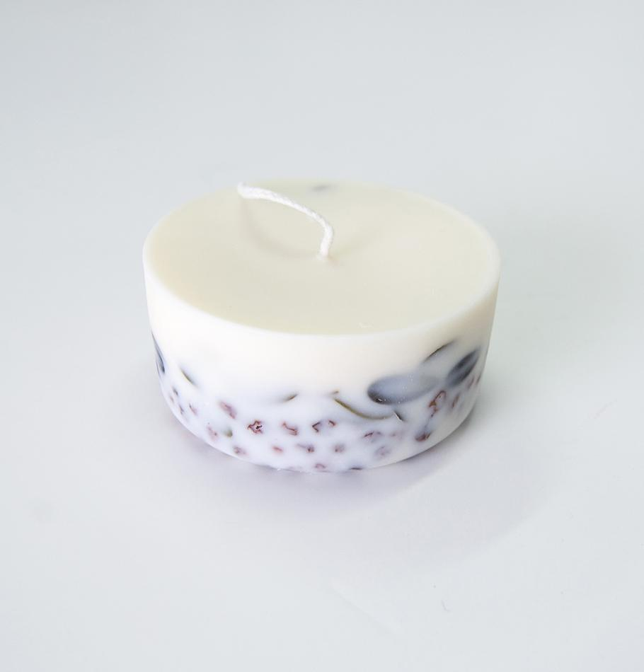 "Ashberry & Bilberry Leaves, Scented Soy Wax Candle ""5 SENSES"""