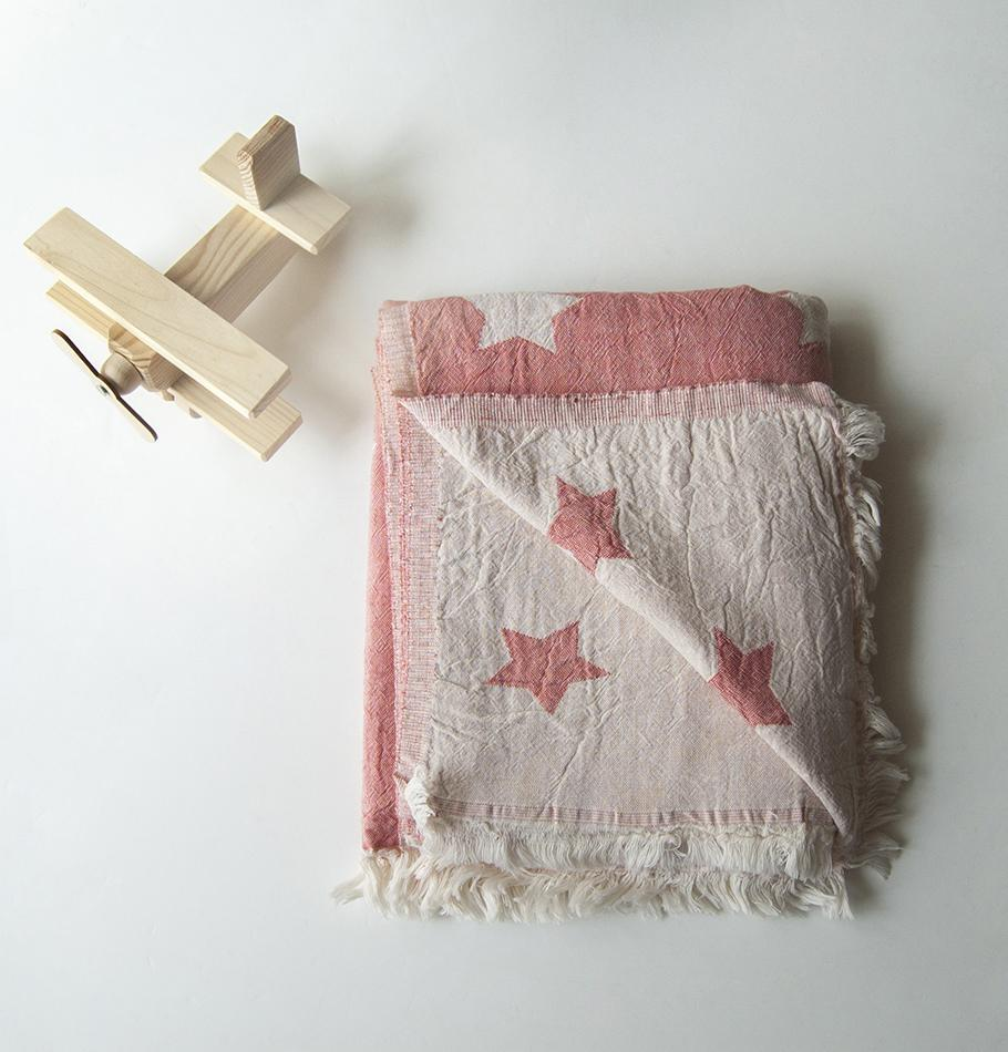 "Premium Turkish Cotton Throw double-sided ""HOW TO CATCH A STAR"""