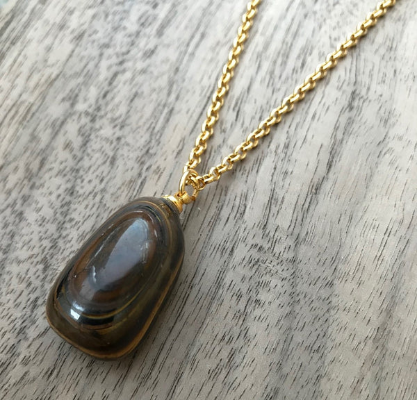 TIGERS EYE TUMBLED NECKLACE