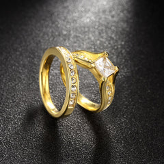 Crown Jewel & Crystal Ring
