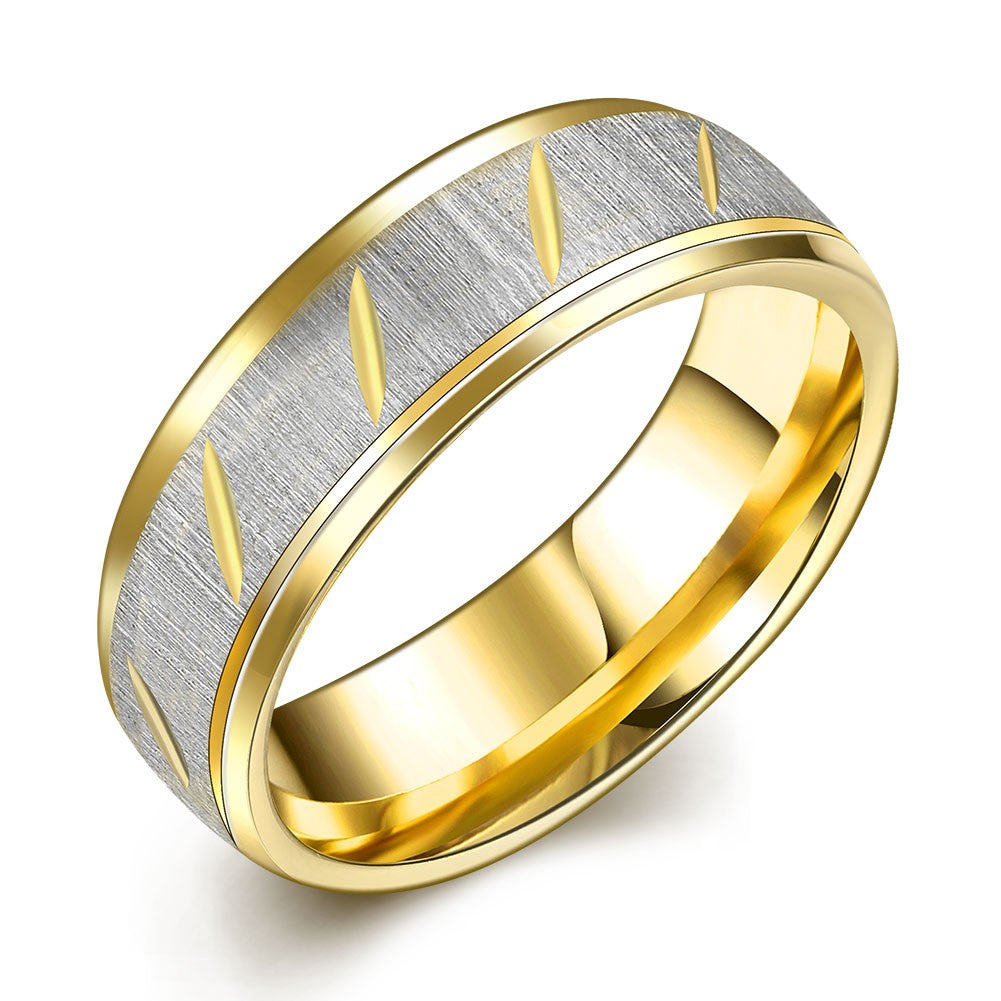 Stainless Steel & Gold Band