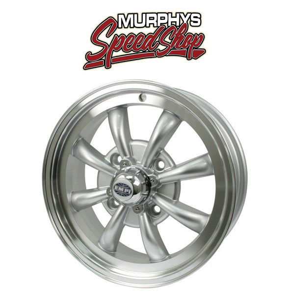 "EMPI 9685 15"" X 5-1/2"" VW BUG 4 LUG SILVER EMPI 8 SPOKE WHEEL INCLUDES CAP-VALVE STEM"