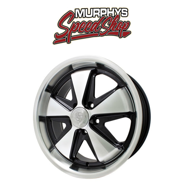 "EMPI 9745 17"" X 7"" VW BUS 5 LUG SILVER/BLACK EMPI 911 ALLOY WHEEL INCLUDES CAP-VALVE STEM"