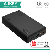 Aukey PB-T11 30000mah QC 3.0 with Lightning IN/OUT