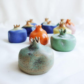 Green ceramic pomegranate
