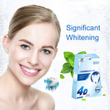 New  4D Crystal Diamond White Gel Teeth Whitening Strips Oral Hygiene Care Teeth Strips Whitening Dental Bleaching Tool 8Pcs/4Pa
