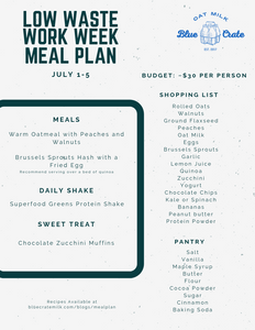 Meal Plan July 1-5