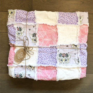 Modern Rag Quilt- The Lucy