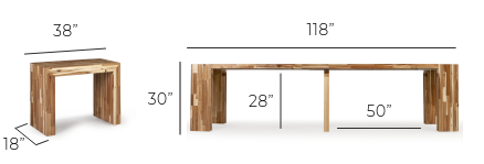 DIMENSIONS - TABLE