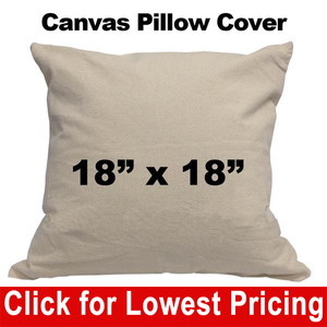 Blank Cotton Canvas Pillow Cover - 18