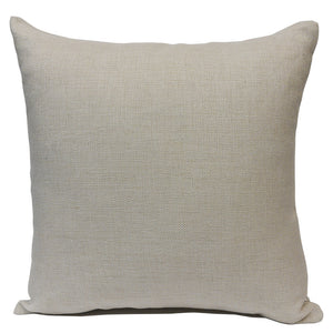 "Blank Sublimation Linen-Look Pillow Cover - 16"" x 16"" with 14"