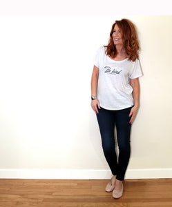 Be Kind (to yourself) Flowy Scoop Neck Tee