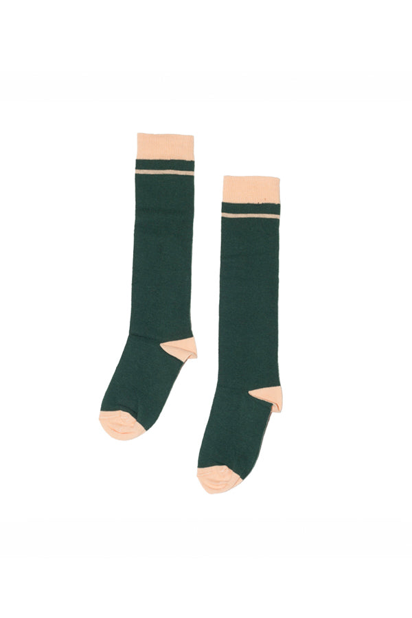 【20%OFF】KNEE SOCK GREEN/APRICOT