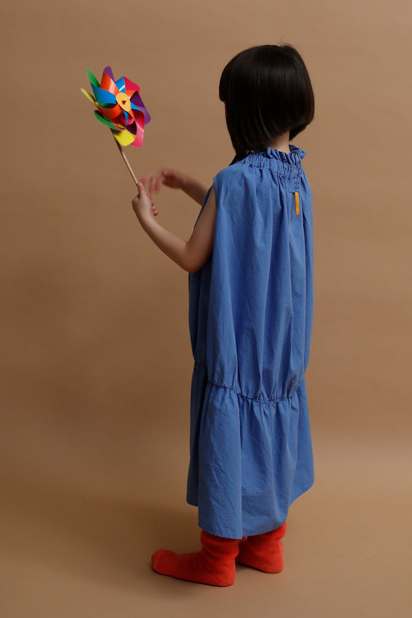 【30%OFF】folk made baton dress ブルー