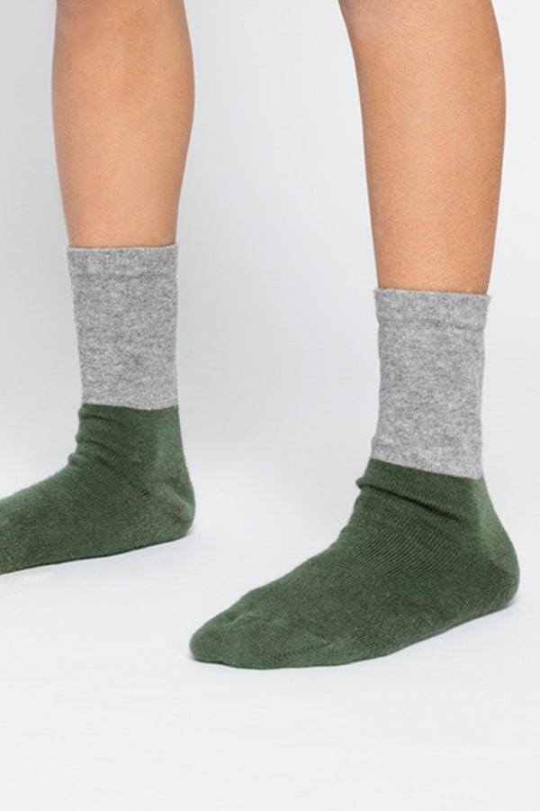 【10%OFF】SOCKS GREY / DUCK GREEN