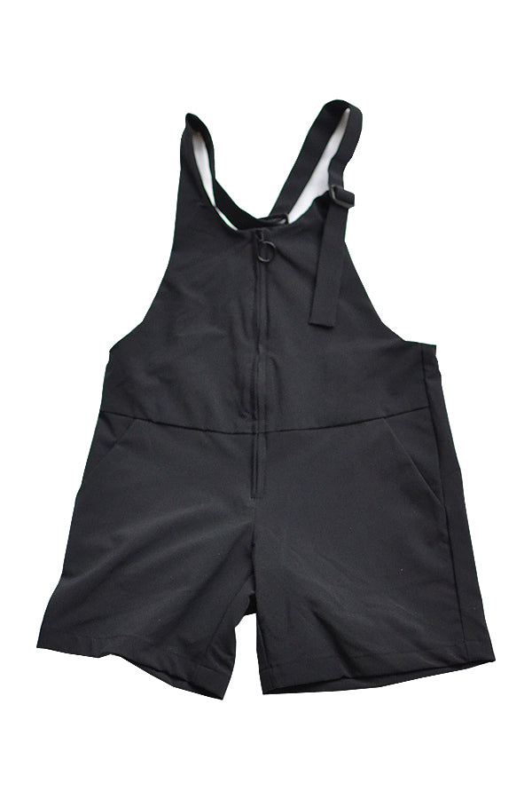 【30%OFF】NYLON STRETCH JUMPSUITS <black>