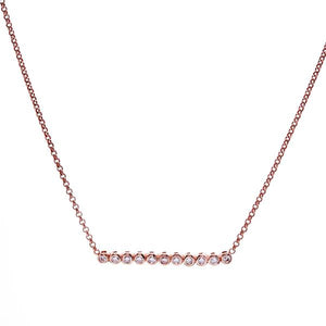 Sybella Jewellery - Cubic Zirconia Bar Necklace Rhodium